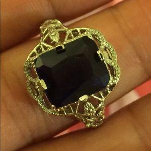 NWT Blue Sapphire Ring