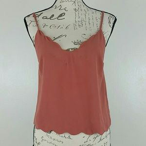 Cropped Tank with Scalloped Edge by Lush size S