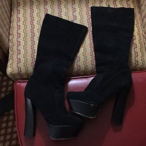 H by Halston Suede Boots SZ 11B