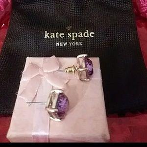 NEW PURPLE KATE SPADE GALAXY GLITTER EARRINGS