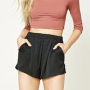 Forever 21 High Waist Satin Shorts Small