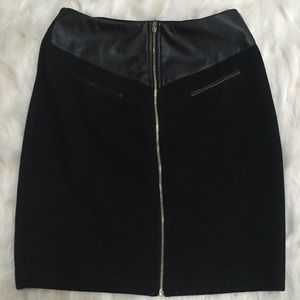 Black Tight Fitted Pencil Skirt