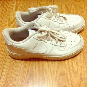 Nike Air Force 1 Women's White Sneakers Size 7!