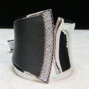 bebe silver cuff bracelet with crystal NWT bbb02