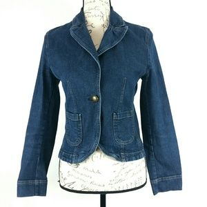Fitted Denim Jacket by Petite Sophisticate size 6
