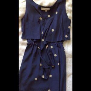 Amanda Uprichard Polka dot mini dress size p or xs