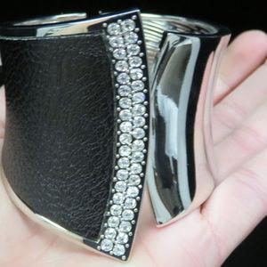 bebe silver cuff bracelet, crystal NWOT bbb02nc