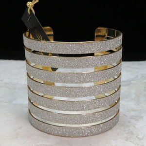 bebe gold and silver cuff bracelet NWT bbb05