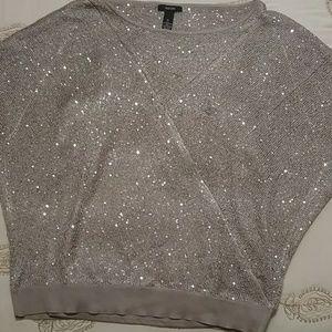 Tan Knit Sweater w/ Sparkle