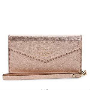 NEW Kate Spade Rose Gold IPhone 7 Wristlet Case
