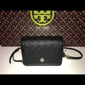 New/Tag Tory Burch Bryant Quilted Combo Cross-bag