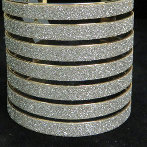 bebe gold and silver cuff bracelet NWOT bbb05nc