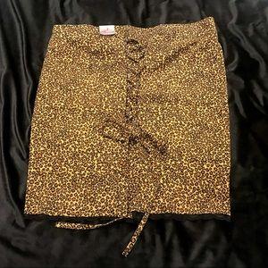 NWT! Torrid Pin Up Leopard Corset Back Skirt