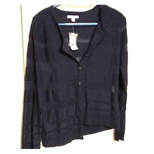NWT Ny and co cardigan with sheer stripes