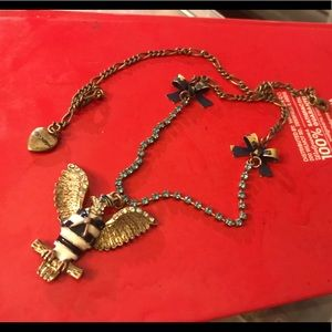 Betsey Johnson American bald eagle necklace