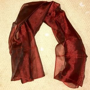 Organza scarf. Really large, could be used as wrap