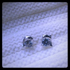 Jewelry - Crystal Eye Dolphin Sterling Silver Stud Earrings
