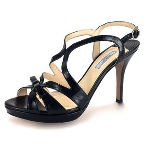 PRADA Milano Italy Patent Leather Ankle Strap