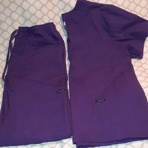 Purple nursing scrubs size medium