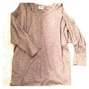 Cold Shoulder Three-Quarter-Sleeve Top