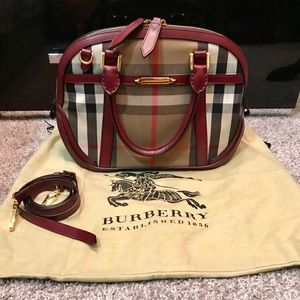 BURBERRY Orchard Bowling Satchel