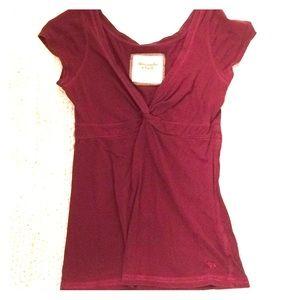 Abercrombie & Fitch Short Sleeve V-neck