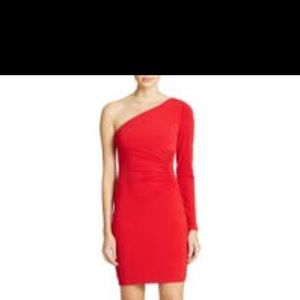 Guess Red one sleeve dress