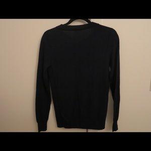 Dark Blue J Crew Scoop Neck Sweater