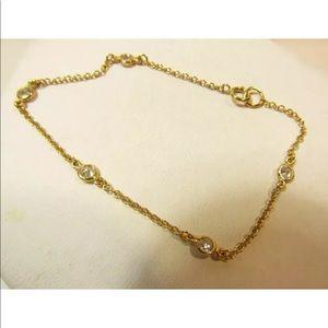 Jewelry - Vermeil silver Bracelet Dainty Chain With CZ