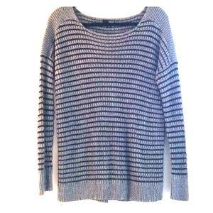 Long Sleeve Striped Knit Sweater