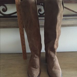 Frye Suede Brown:Tan Tall to the Knee