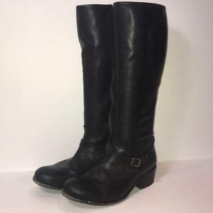 Frye Boots Lynn Strap Tall Black