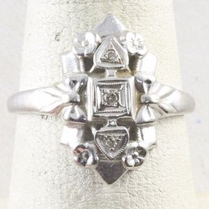 Vintage 14k Gold and Diamond Ring Size 6.75