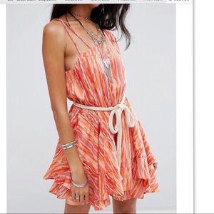 Free People Asymmetrical Shoulder Print Dress