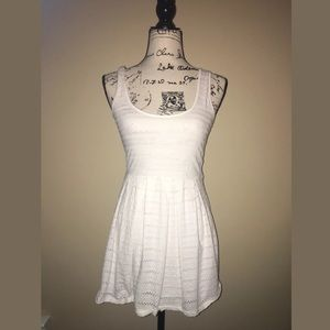 Bethany Mota fit and flare white dress XS