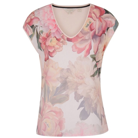 c3a8726b4 Ted Baker Women s Kushine Painted Posie V Neck Tee