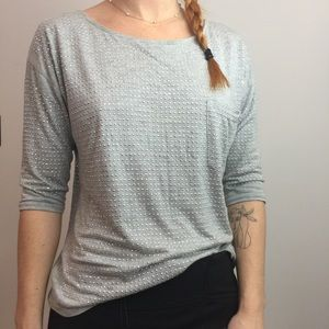 Haute Hippie Grey Silver Studded Shirt Blouse