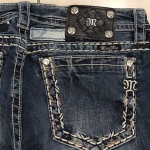 Miss Me skinny patchwork🌻ankle jeans size 31 NWOT