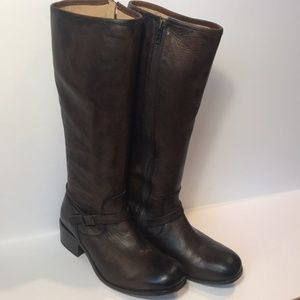 Frye Boots Lynn Strap Tall Tan
