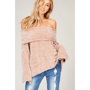 Off the Shoulder Sweater Top