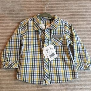 """New """"Mayoral"""" plaid button up"""