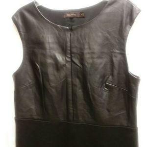 The Limited black dress faux leather 12