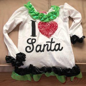 I️ love Santa Boutique tunic top