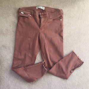 Salmon ankle jeans