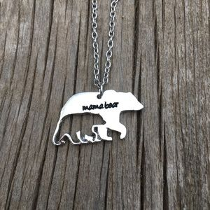 Jewelry - Mama Bear Silver Toned Necklace
