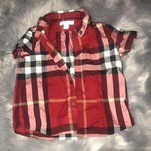 Burberry toddler boy check shirt 2t