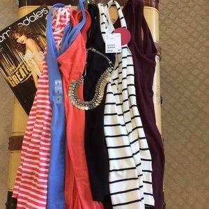 Bundle of 6 tank tops- some new and some used