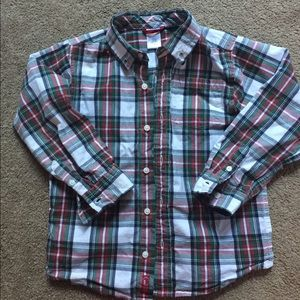 Boys 5T plaid holiday Gymboree shirt