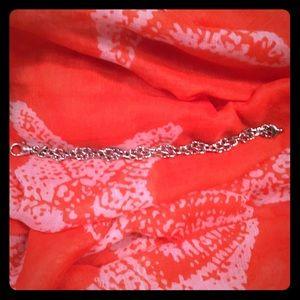 🆕 Sterling Silver Rope Design Bracelet