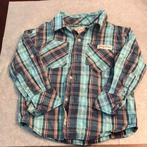 Lucky Brand Button down plaid boys shirt